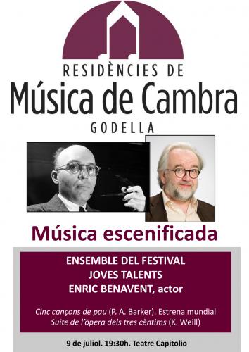 MÚSICA DE CAMBRA - MÚSICA ESCENIFICADA