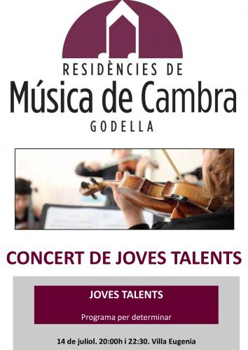 MÚSICA DE CAMBRA - CONCERT JOVES TALENTS