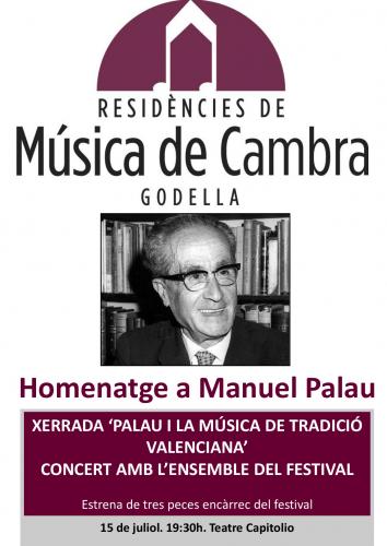 MÚSICA DE CAMBRA - HOMENATGE MANUEL PALAU