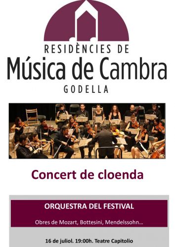 MÚSICA DE CAMBRA - CONCERT DE CLOENDA