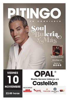 PITINGO en concierto SOUL, BULERÍA Y MÁS