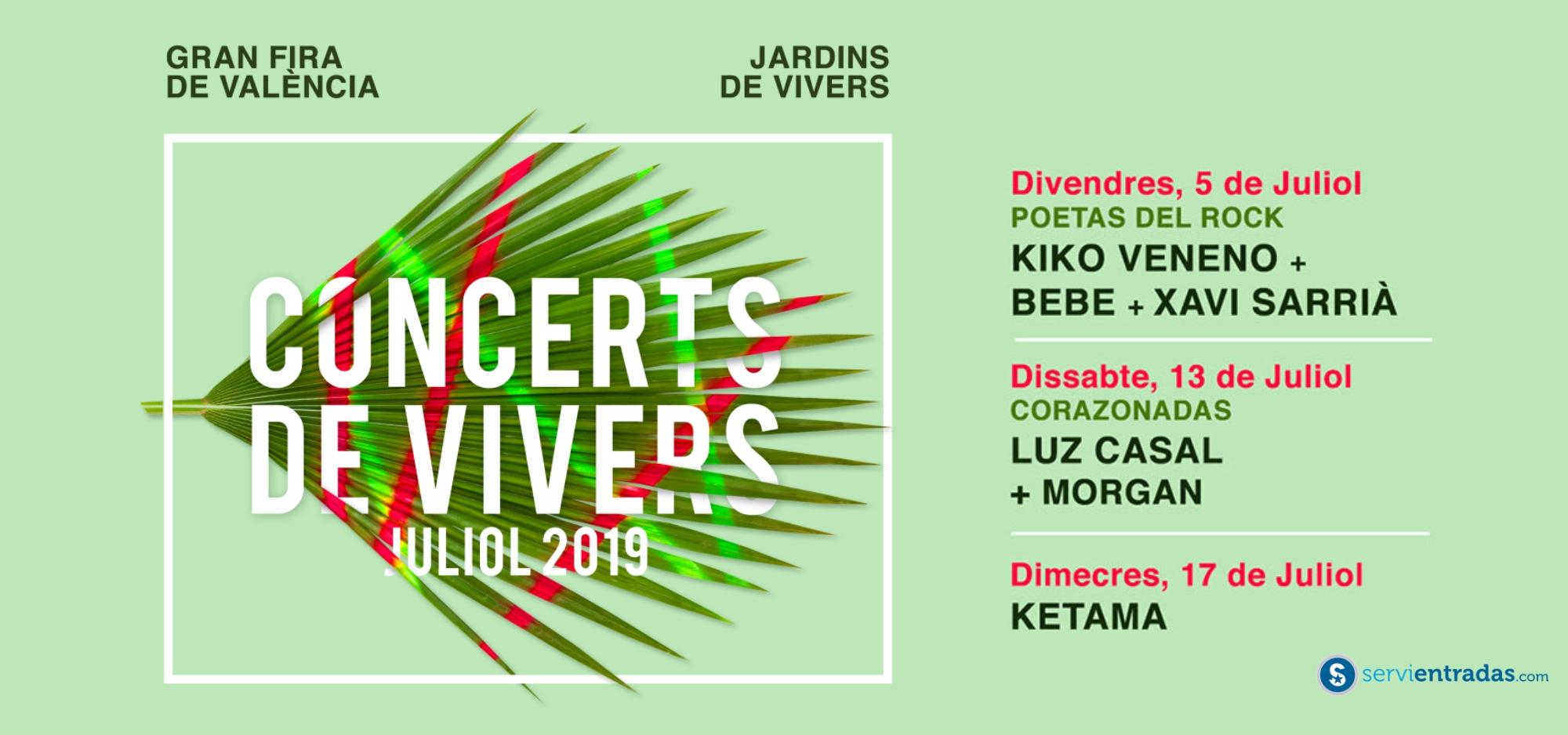 Conciertos Feria de Julio