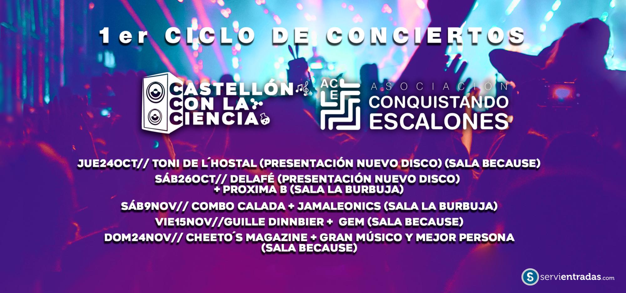 CONCIERTOS CASTELLÓN CON LA CIENCIA - C. ESCALONES