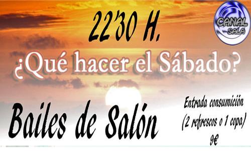 SABADO BAILES DE SALÓN